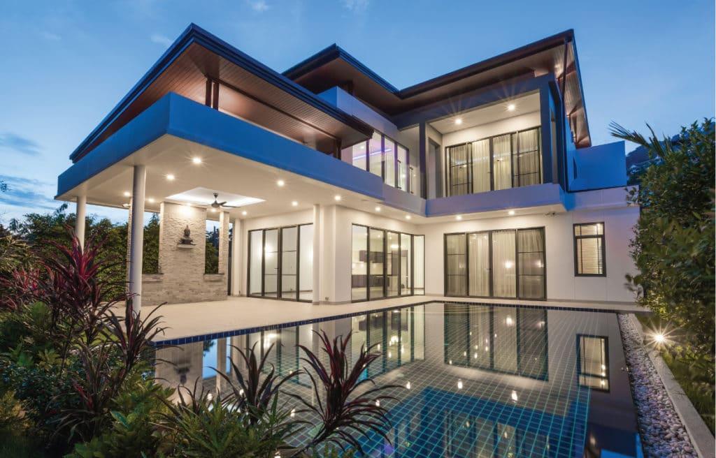 How do you build a luxury home?